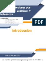 Tipos de Reacciones Por Reacomodos Atómicos y Balanceos.