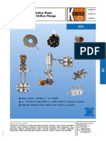 Orifice Plate Flange Pressure KPL 0