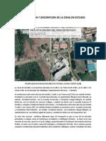 Localizacion y Descripcion de La Zona en Estudio