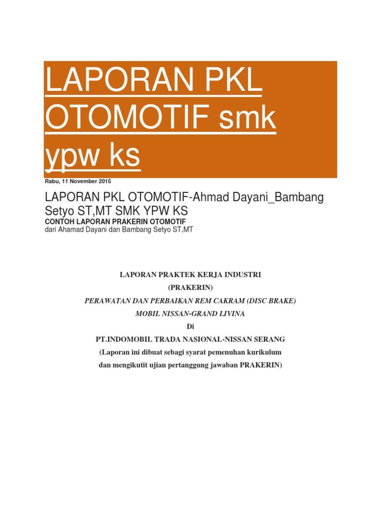 Laporan Pkl Otomotif Smk Docx