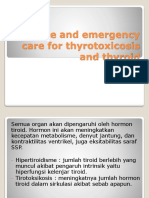 Acute and emergency care for thyrotoxicosis and thyroid.pptx