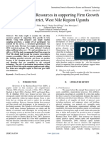 The Role of Firm Resources in Supporting Firm Growth in Arua District West Nile Region Uganda