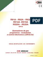 Manual de quemador R93A y R91A.pdf