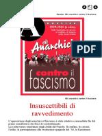 A-Rivista Anarchica - Dossier Anarchici Contro Il Fascismo