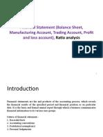 7. Financial Statement (Balance Sheet, Trading Account, Profit and Loss Account), Ratio Analysis