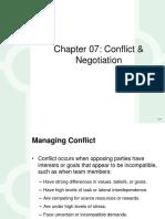 Conflict & Negotiations