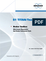 Bruker Toolbox, S1 TITAN and Tracer 5i