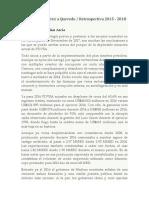 PDVSA. de Ramirez a Quevedo. Retrospectiva 2015 - 2018
