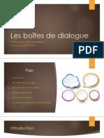 Les boîtes de dialogue en Java - programmation exposé