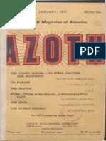Azoth, Januari 1919