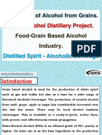 Production of Alcohol from Grains. Grain Alcohol Distillery Project