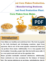 Breakfast Cereal Corn Flakes Production. Corn Flakes Manufacturing Business.