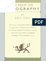 Eric Gill - An Essay on Typographyi