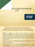 Regulations Under Trademark Law