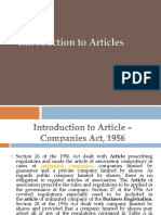 Introduction to Articles