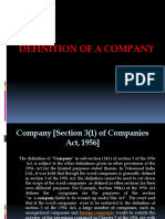 Definition of a Company