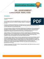 Internal Assessment Analysis Answers