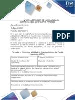 Formato Para La Ejecución de La Guía Para El Desarrollo Del Componente Práctico