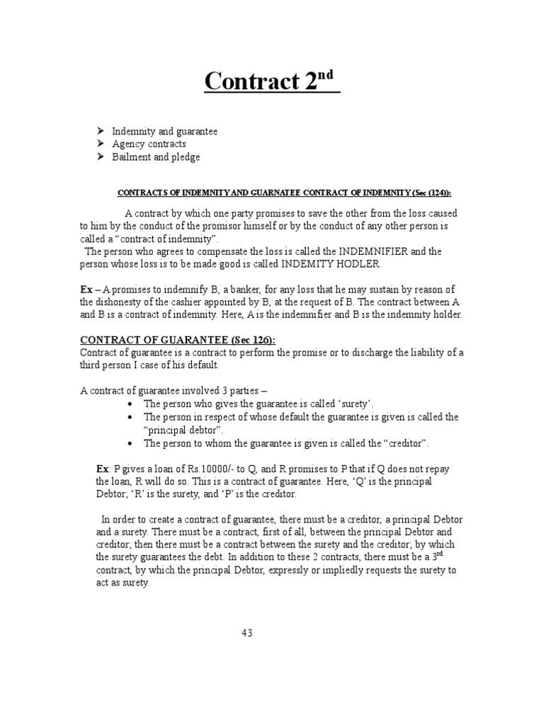 Loan guarantee Surety Agreement 91