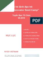 Booklet Tuyển Ban tổ chức  trại hè YISC 2018