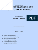 Capacity & Aggregate Planning