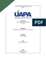 Fundamentos y Estructura Del Curriculo, Tema l, Yesenia
