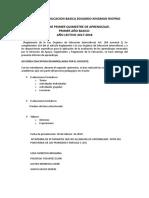 Informe Quimestralescuela de Educacion Basica Eduardo Kingman Riofrio