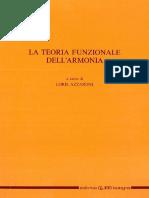 Azzaroni Loris - La Teoria Funzionale Dell'Armonia - CLUEB BOLOGNA 1991