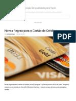 Novas Regras Para o Cartão de Crédito - Leticia Camargo