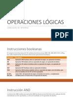 OPERACIONES LÓGICAS
