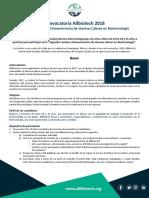 Allbiotech 2018 - Convocatoria en Extenso - Español