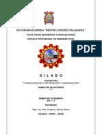 Silabo TICs 2017-II