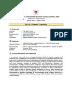 ISC292 Organic Chemistry