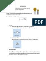 Termistores y Fotorresistencias