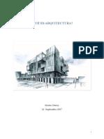 Que Es Arquitectura?