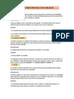15 Principios  de contabilidad