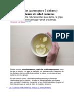 Remedios Caseros Para 7 Dolores y Problemas de Salud Comunes