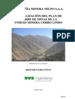Actualizacion Plan Cierre Minera Cerro Lindo