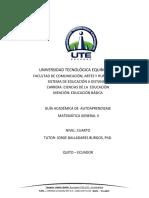 Guia Academica Matematica II Abril Agosto 2018