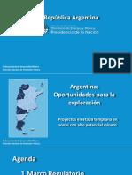 Oportunidades Para Exploracion en Argentina