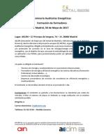 Seminario Auditorías Energéticas-Formación de Formadores