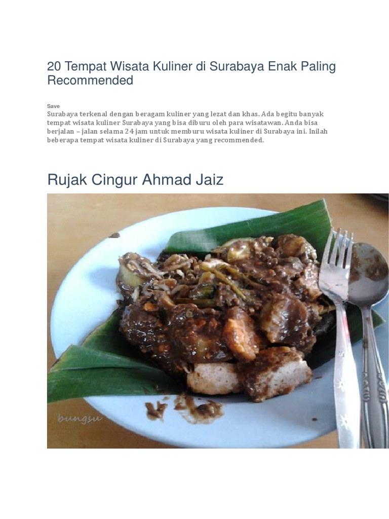 20 Wisata Kuliner Di Surabaya