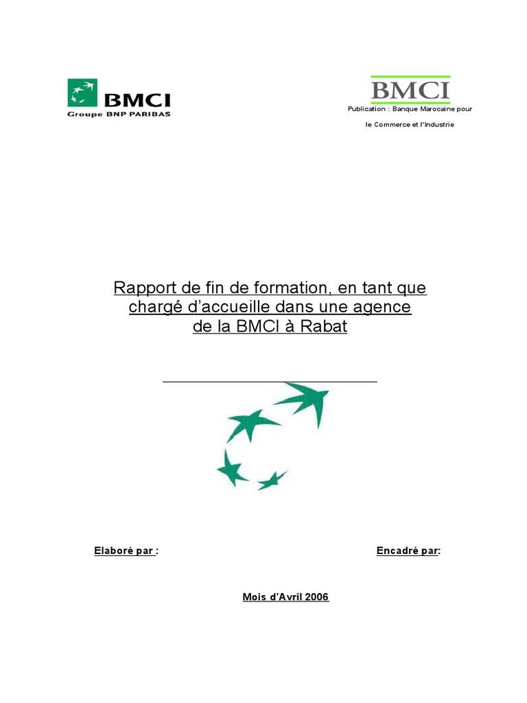 DE BMCI STAGE RAPPORT TÉLÉCHARGER