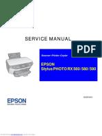 Service Manual Stylus Photo Rx 560/Rx 590