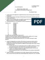 ED72.13 Mid Term Exam Jan 2015