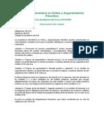 Oferta Academica Critica Argumentacion 15-16