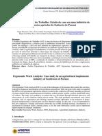 Estudo de Caso Em Uma Indústria de Implementos Agrícolas Do Sudoeste Do Paraná