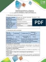 Guía de Actividades y Rúbrica de Evaluación - Fase 4 - Desarrollar El Objetivo General, Objetivos Específicos y Justificación