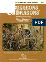 TSR 9037C AC5 Player Character Record Sheets