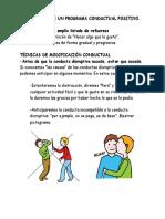 Programa Condutual Positivo Para Mejora Conductas Disruptivas